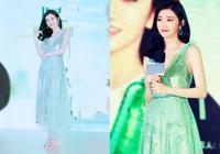 被景甜這一襲薄荷綠長裙美到了,清爽又時尚,滿滿的夏日感