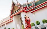 紅衣少女,在泰國尋找一簾幽夢