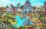 太珍貴了!他靠記憶畫出60年前的信陽商城縣,衙門口、八方墩