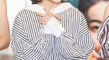 張子楓宣傳新電影終於穿得像個16歲的少女,簡單裝扮就對了!