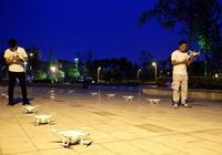 四川什邡:無人機表演點亮夜空
