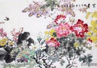 自唐朝以來,歷代不乏畫牡丹高手,善學的他畫出的牡丹春豔滿庭芳