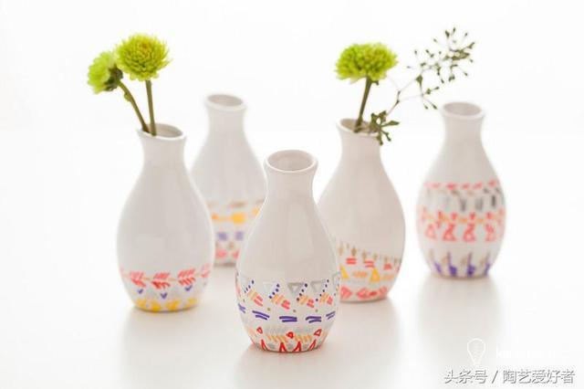 DIY手繪陶瓷教程:手繪帶著夏天氣息的陶瓷花瓶