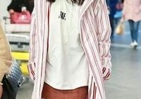 同樣是穿條紋外套,楊冪和景甜的氣質差一大截