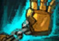 機器人:你敢吃我一鉤嗎?錘石:你敢吃我一鉤嗎?他:試試我的!