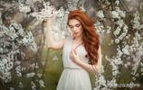 俄羅斯女孩和春天的約會,網友:從畫中走出來的仙子!