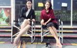 劉亦菲和江語晨同秀美腿,氣質女神和清新美女的對決 誰更漂亮?