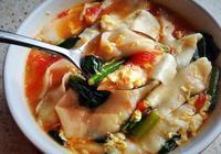 西紅柿雞蛋麵片湯