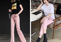 不一樣的潮流,粉色牛仔褲也能穿出時髦感