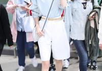 36歲韓雪越來越美了,荷葉邊襯衫配闊腿褲,簡約穿搭氣質更高級了