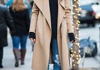 駝色風衣配什麼毛衣好看 駝色大衣搭配毛衣顏色