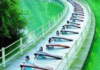 宣恩:水上棧道演奏古箏
