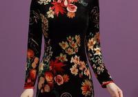 不是我吹!女人穿旗袍過膝裙+羊絨小披肩,比秋裙洋氣,美而不貴