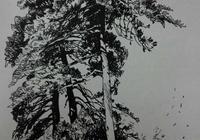 速寫形式的鋼筆風景畫
