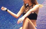 墨西哥超模花花公子女郎布倫達·桑布拉諾沙灘秀誘人比基尼