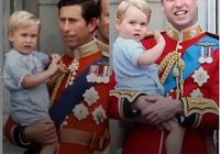 威廉王子和喬治王子,父子奇妙相似,王室男孩子原來都是一個樣!