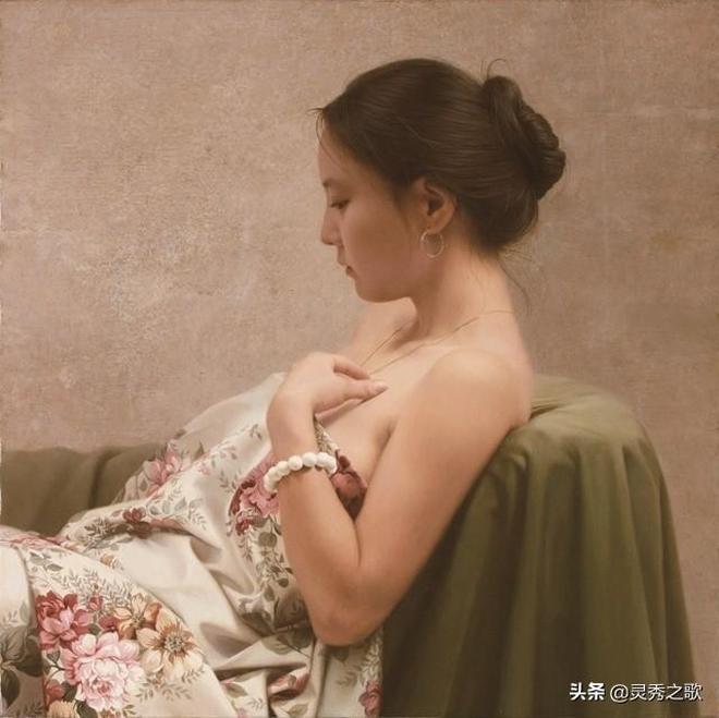 驚豔的背影,外國油畫大師人物油畫作品