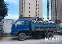 貨車滿載垃圾一直停在路邊 貨車司機已經找到