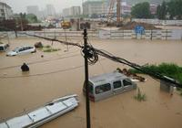 大暴雨襲擊廣州 黃埔區積水嚴重