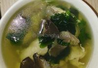 毛菇青菜蛋花湯