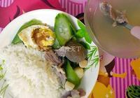 寶貝的晚餐——汕頭牛丸絲瓜湯泡飯