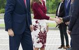 西班牙王后萊蒂齊亞穿印花裙出席活動驚豔搶眼