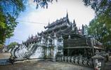 曼德勒這座僧院曾經是皇室寢殿,殿中金碧輝煌,美到窒息!