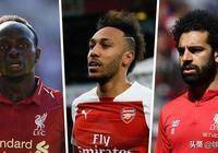 非洲三俠齊進22球,薩拉赫、馬內和奧巴梅揚共同分享英超金靴