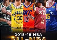 NBA官方公佈了2019賽季最佳陣容,其中你覺得一陣VS二陣,誰會贏?