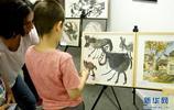 """""""中歐青少年兒童畫展""""在布魯塞爾舉行"""