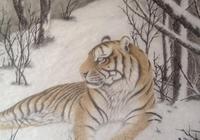 藝術家張永貴作品賞析:他筆下的老虎個個能從紙上走出來