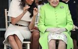同樣是孫媳婦,凱特和梅根單獨和女王出行大不同,她更搶鏡