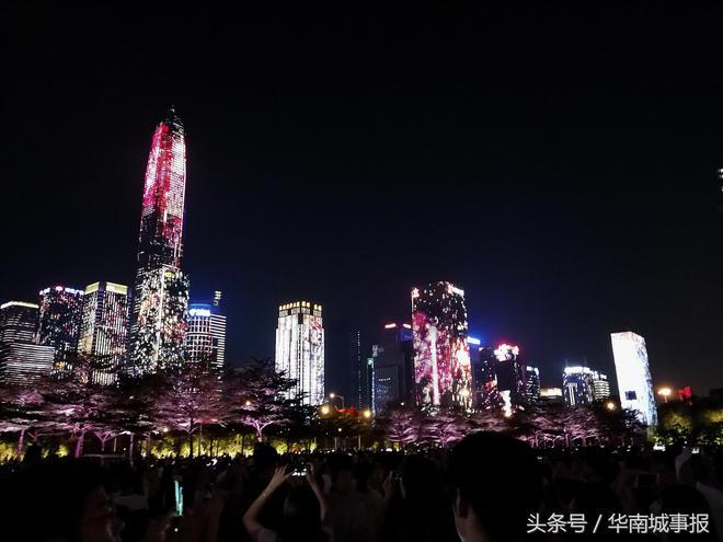 實拍深圳中心區無敵夜景,這一刻,深圳讓世界刮目相看