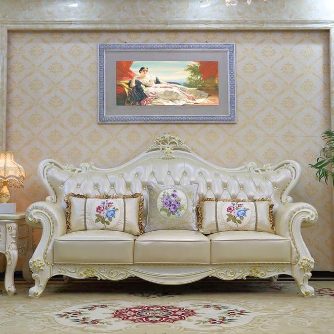 裝修買歐式傢俱歐式真皮沙發就等雙十一,價格實惠款式多,巨划算