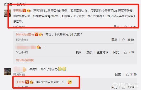 IG王思聰化身文案鬼才,為了推銷冠軍皮膚直言買皮膚的都是兄弟,如何評價?
