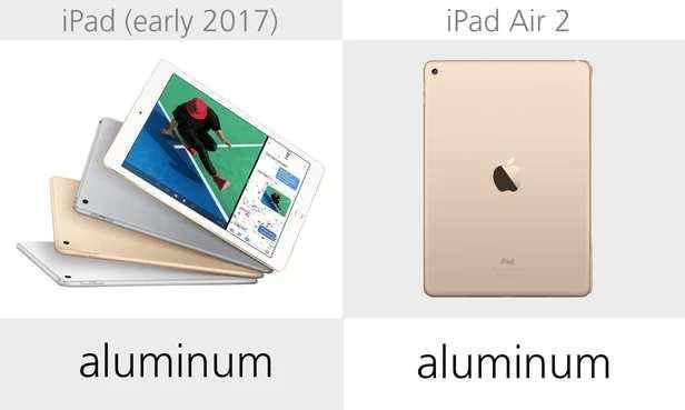 規格參數對比:iPad(2017)vs iPad Air 2