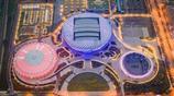 如科幻世界!航拍武漢光谷網球中心