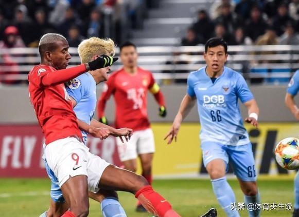 亞冠F組最新積分榜:廣島三箭緊追。恆大1-3不敵大邱仍排第2