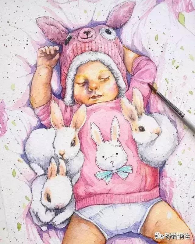 媽媽用畫筆記錄下寶寶的成長記錄,十幾年下來從畫渣變大咖