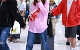 林心如少女風穿搭時尚又減齡,一路快步疾行氣場足