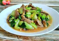 健康食譜,平菇炒油菜,美味的素菜菜譜,健康每一天
