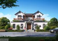 黃先生38萬建棟最美中式別墅,送給父母,村裡人看了羨慕又誇讚