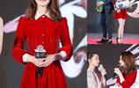 新剪短髮的趙麗穎一襲紅裙與林更新互動有愛 網友:麗坤出來管管
