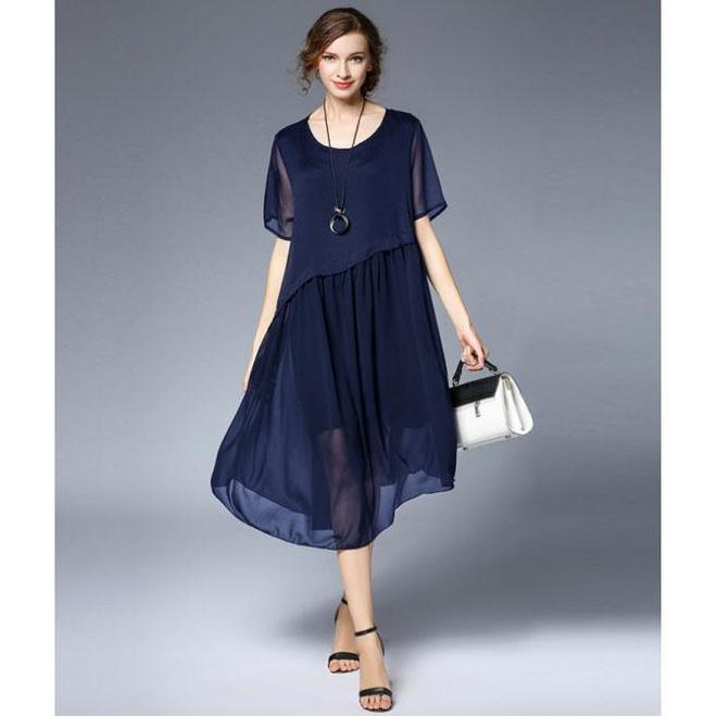 32~59歲女人就要穿的優雅得體,輕薄雪紡衫+舒適棉麻T恤,提升氣質又減齡,穿出優雅端莊時髦氣質