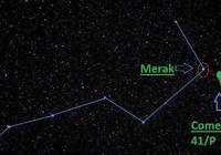 一顆綠色彗星正在接近地球