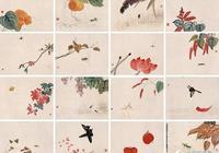 齊白石送給民國大總統曹錕的16幅精美草蟲畫!