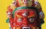 蓮花生藏妃、觀音菩薩化身……古老藏族面具藝術,羌姆面具