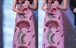 周冬雨發佈會太適合這身紫色連衣裙,身高秒變1米8,平板身材性感