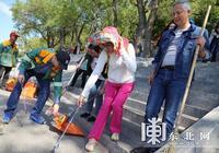 世界環境日東北網黨員義務勞動宣傳環保