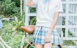 美女圖集:清純校服,陽光戶外,唯美靚麗